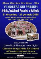 Eventi - VI Mostra dei Presepi artistici, tradizionali, fantasiosi e multietnici - Ales - Oristano