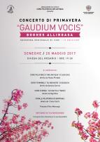 Eventi - Concerto di primavera Gaudium vocis - Seneghe - Oristano