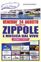 Eventi - E-stando a S'Archittu 2018 - Zippole e musica dal vivo - S'Archittu - Cuglieri - Oristano