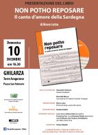 Eventi - Presentazione del libro Non potho reposare a Ghilarza - Ghilarza - Oristano