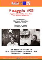 Eventi - 9 maggio 1978: Peppino Impastato, Aldo Moro due storie parallele - Incontro con Giovanni Impastato e Stefano Pinna - Oristano