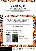 Eventi - Leggendo Ancora Insieme - All'UNLA incontro con Bachisio Bandinu - Oristano