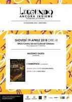 Eventi - Leggendo Ancora Insieme - Presentazione libro L'omeopata di Massimo Dadea - Oristano