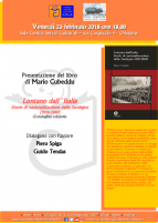 Eventi - Presentazione libro - Lontano dall'Italia di Mario Cubeddu - Oristano