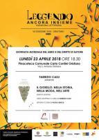 Eventi - Leggendo Ancora Insieme - Presentazione libro di Fabrizio Casu - Oristano