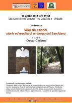 Eventi - Villa de Lacon storia ed eredità di un borgo del Sarcidano - Oristano
