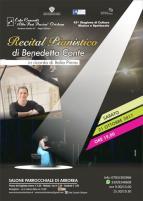 Eventi - Recital della pianista Benedetta Conte - Arborea - Oristano