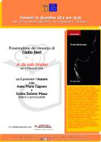 Eventi - Presentazione romanzo  A tie solu bramo di Giulio Neri - Oristano