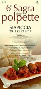 Eventi - Sagra della polpetta 2017 - Siapiccia - Oristano