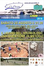 Eventi - E-stando a S'Archittu 2018 - Conferenza dell'archeologo Giuseppe Maisola - S'Archittu - Oristano