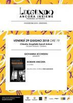 Eventi - Leggendo ancora insieme - Presentazione libro di Giovanna Uccheddu - Oristano
