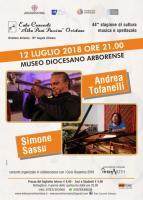 Eventi - 44 ^ Stagione di cultura, music e spettacolo -Musica nelle notti d'estate -  Andrea Tofanelli e Sinone Sassu in concerto - Oristano